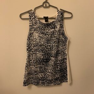 Ann Taylor Black and White Shell